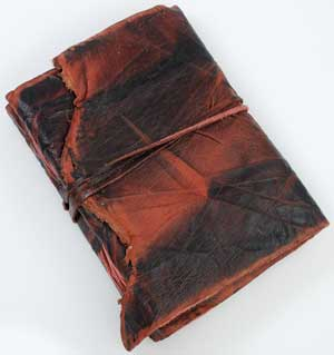 Antique Leather Blank Book
