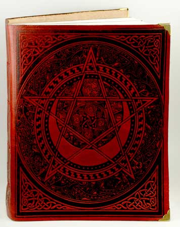 Celtic Spiral Pentagram Leather Blank Book