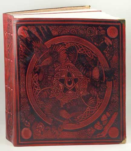 Morrigan Book of Shadows Leather Blank Book
