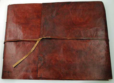 Scroll Leather Sketch Book