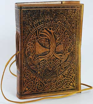 Tree of Life Leather Blank Book