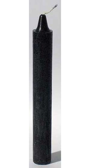 Black 6 Taper Candles