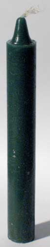Green 6 Taper Candles