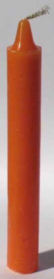 Orange 6 Taper Candles