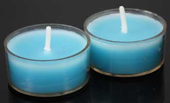 Tuquoise Tealight Candles 50/pack