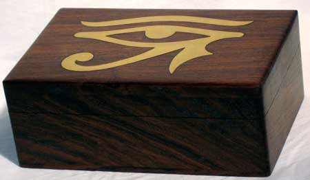 "Inlaid Eye of Horus Box 4""x6"""