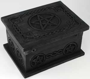 Celtic Pentagram Mango Wood Chest