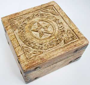 Pentagram Mango Wood Box