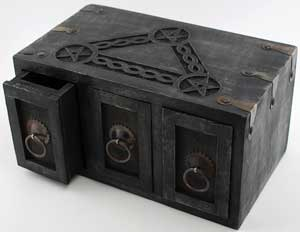 Celtic Pentagram Herb Chest