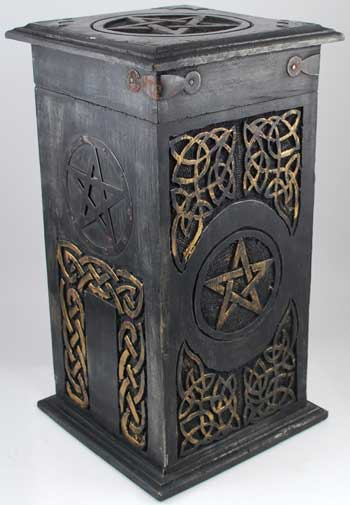 "Golden Pentagram Chalice Box 6"" x 11"""