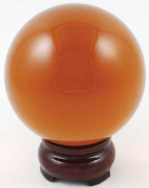 Amber Crystal Ball 80mm