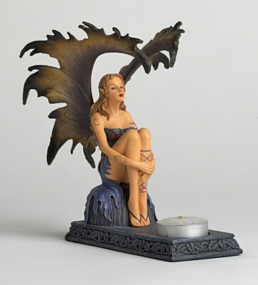 Fairy on Rock Candleholder
