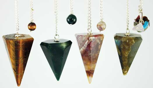 Assorted 6 Faceted pendulum