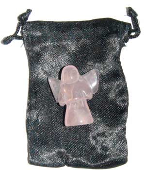 Rose Quartz Pocket Angel