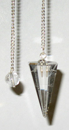 Clear Quartz 6 Facet Pendulum