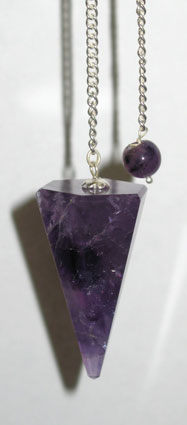Amethyst 6 Faceted Pendulum