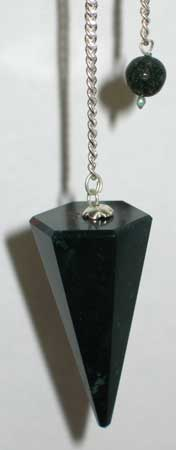 6 Sided Bloodstone Pendulum