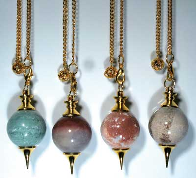 Brass & Gemstone Pendulum
