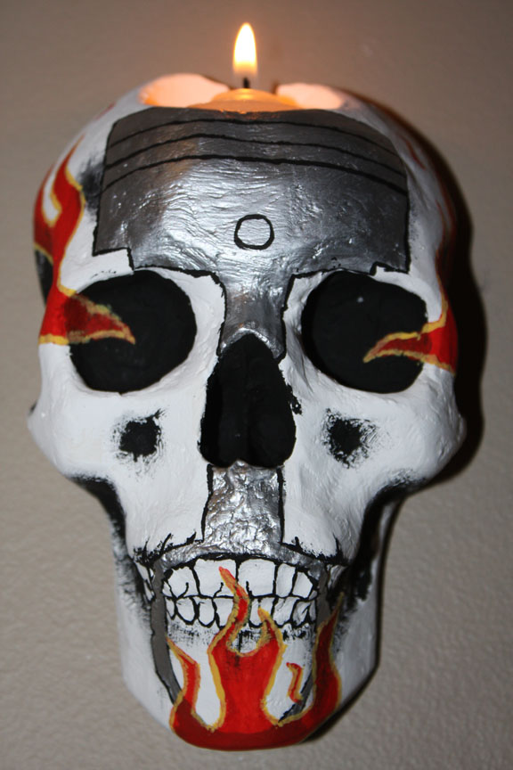 JC Auto Business Skull Sconce