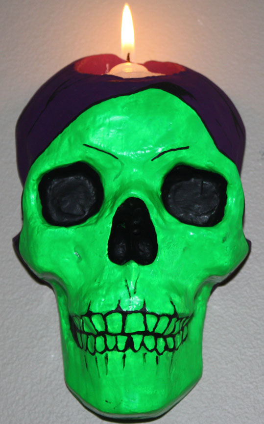 Skeletor Skull Sconce