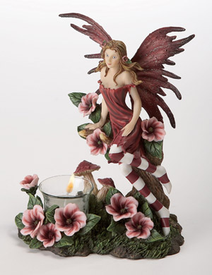 Striped Fairy Candleholder