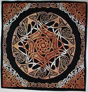 Black and Tan Celtic Table Cloth
