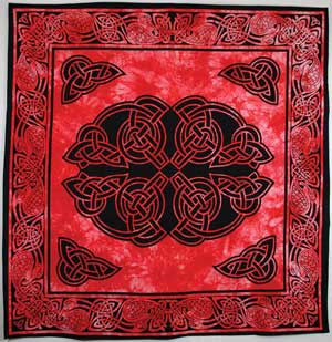 Black and Red Celtic Table Cloth