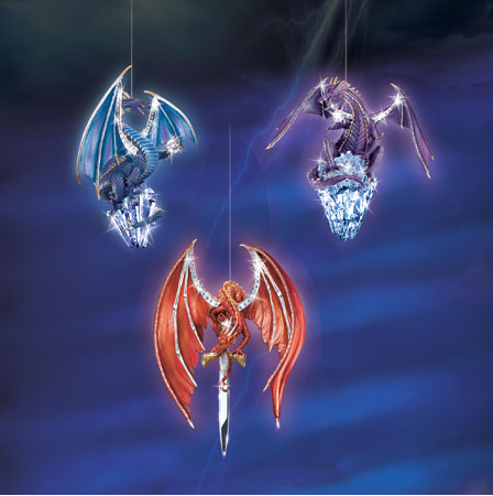 Crystal Power Dragon Ornament Set #1