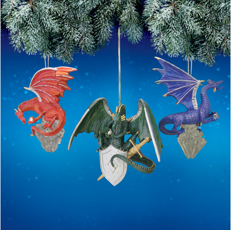 Crystal Power Dragon Ornament Set #2