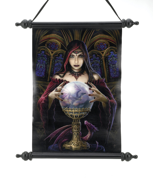 Anne Stokes Crystal Ball Scroll