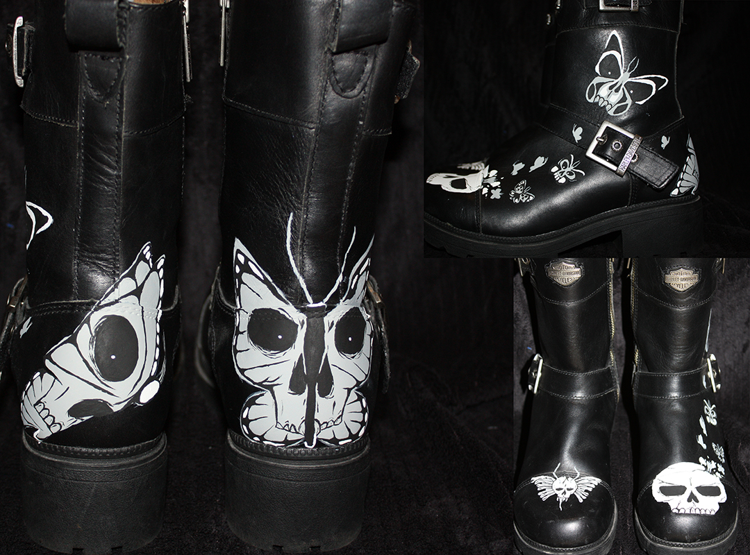 Harley Davidson Skullfly Leather Boots
